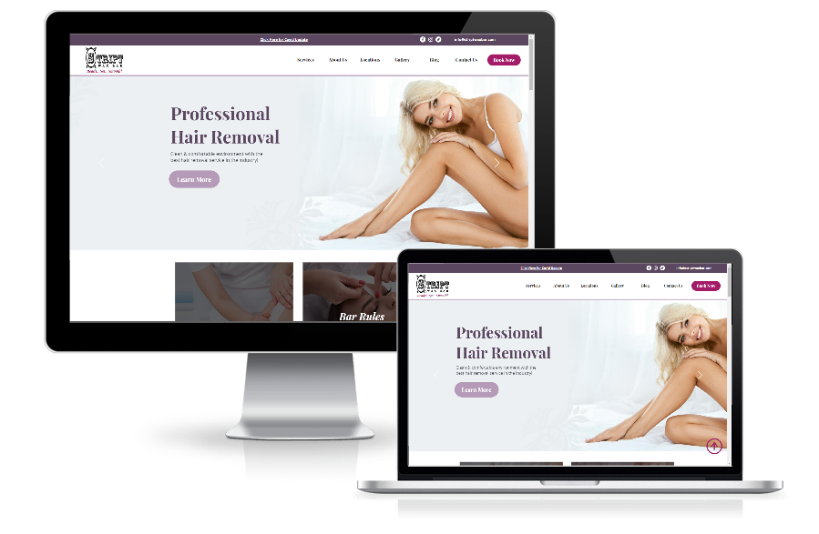 wax bar showcase wix website in a day responsive