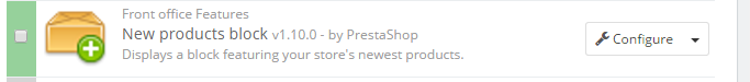 new products block module prestashop