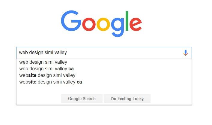 google search web design simi valley