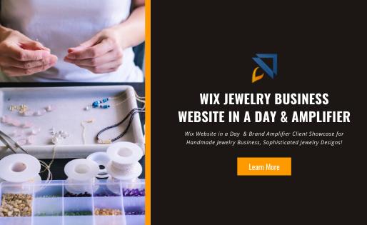 Wix Jewelry Business Website