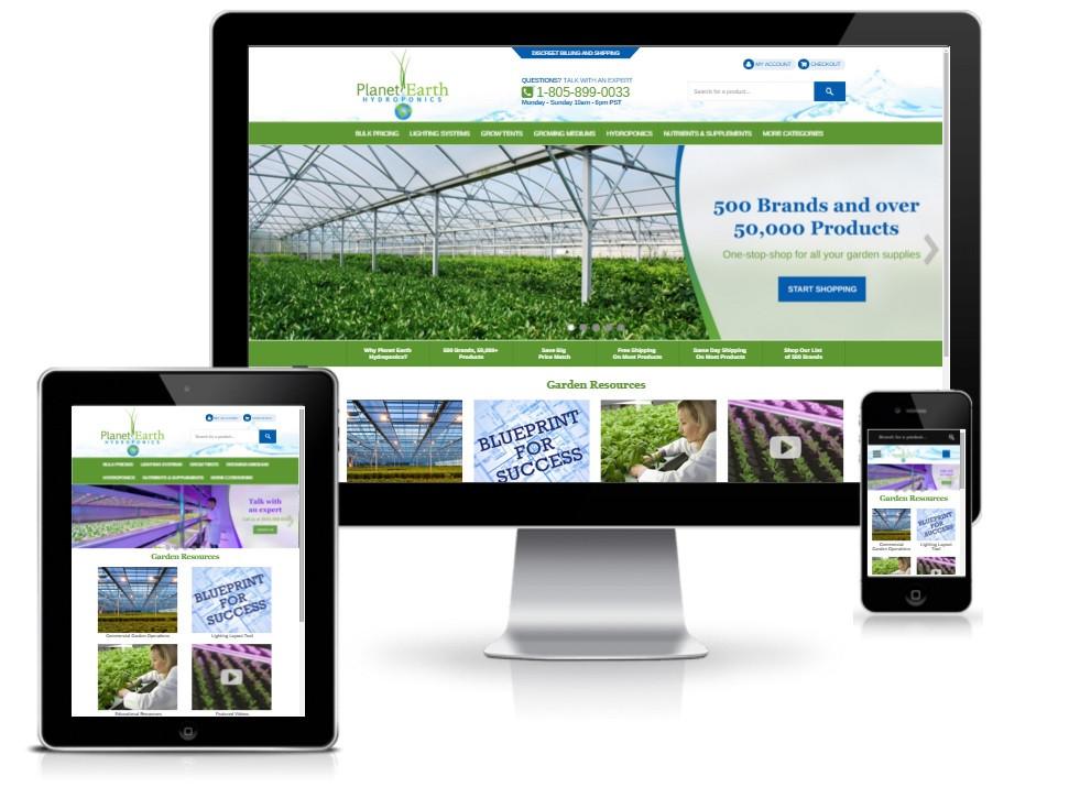 planet earth hydroponics responsive