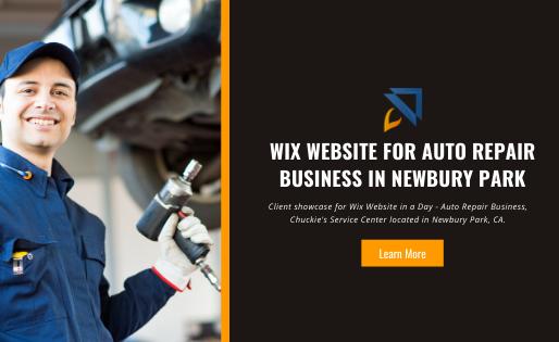 Auto Repair Business Wix Website