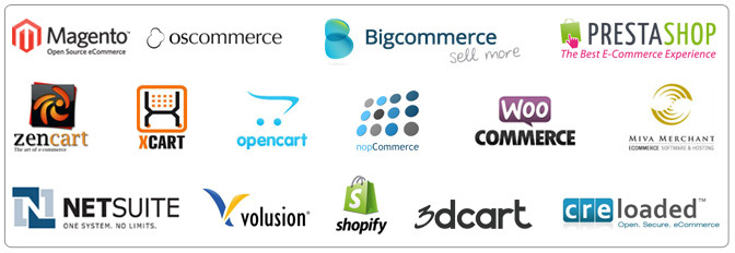 BigCommerce, Shopify, PrestaShop , Volusion