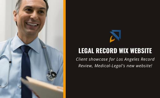 Legal Record Wix Website