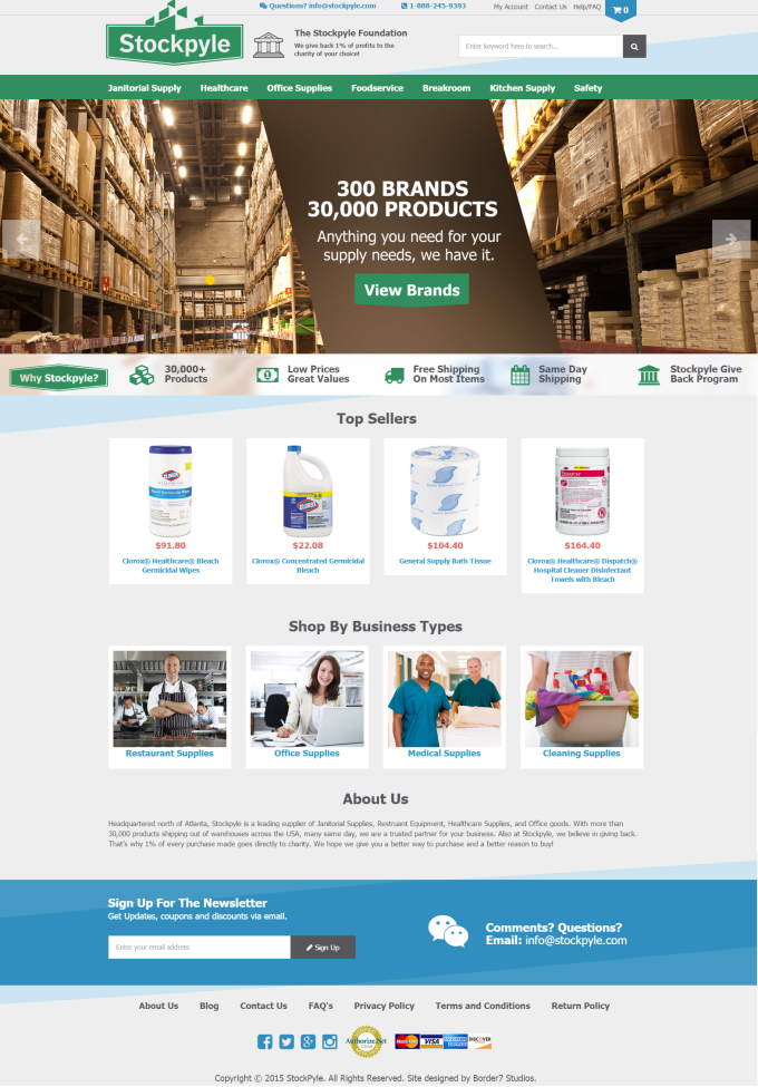 stockpyle homepage