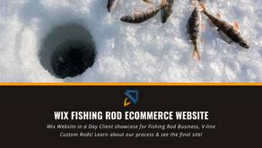 Wix Fishing Rod Ecommerce Website