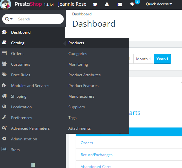 add producs and change category filter prestashop