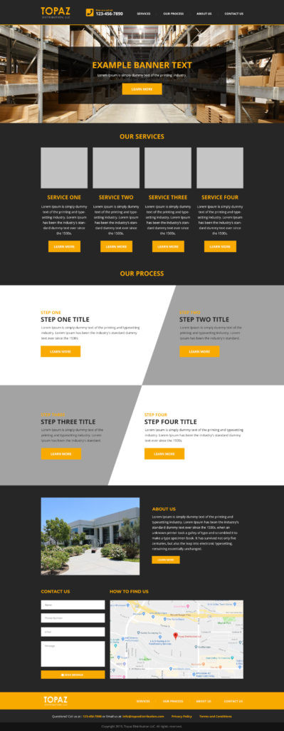 example one page wix site