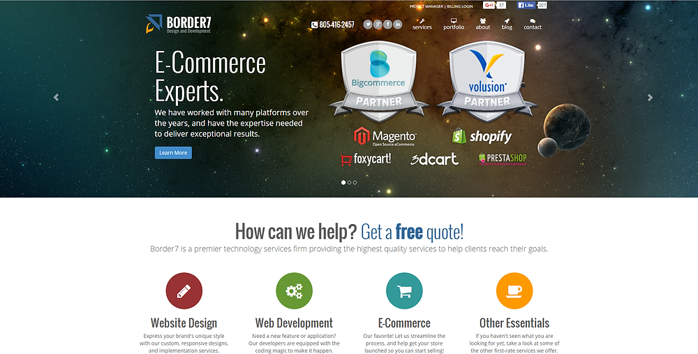 Border7.com before Ghost CSS