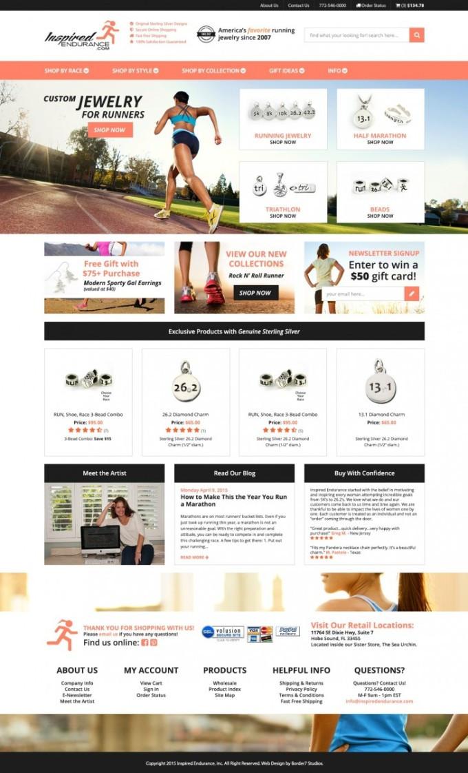 inspired endurance homepage design