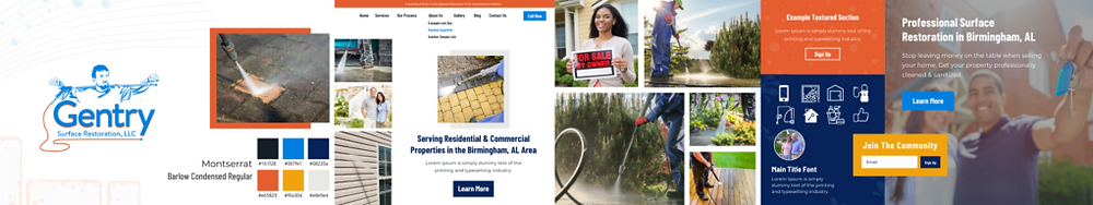wix website for surface restoration business stylescape