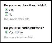 radio button vs checkbox