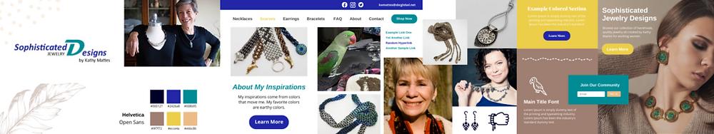 wix jewelry business website stylescape