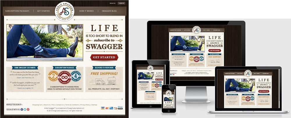 ankle swagger responsive website