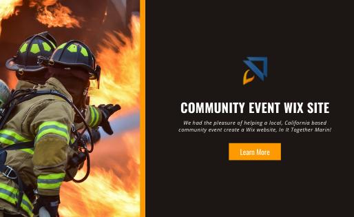 Community Event Wix Site