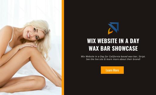 Wax Bar Showcase Wix Website in a Day