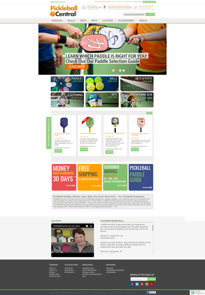 volusion design showcase popular sports store