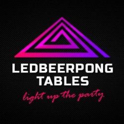 led beer pong table logo