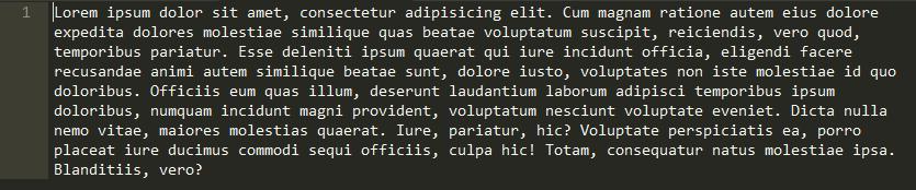 Lorem Ipsum in Sublime Text