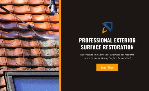 Wix Website for Surface Restoration Business