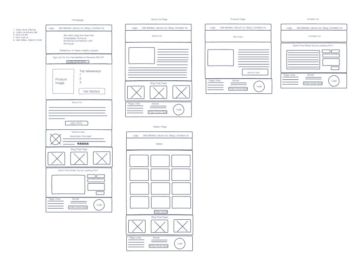 wix website in a day for natural cleaning products wireframe