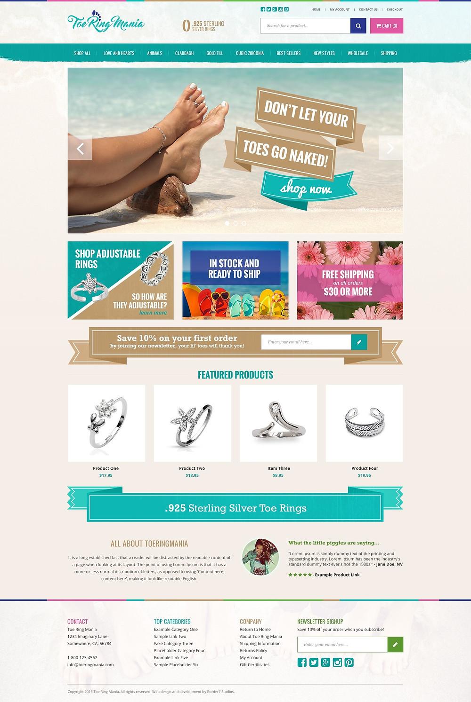 toe ring mania custom homepage