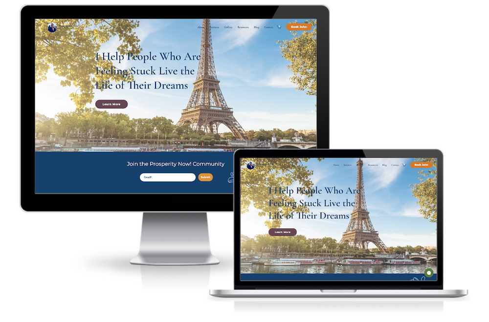 wix website in a day wellness course showcase responsive