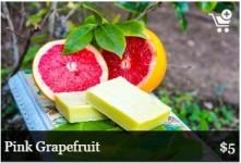 wholly hemp soothing pink grapefruit soap bar