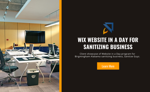 Wix Website in a Day for Sanitizing Business
