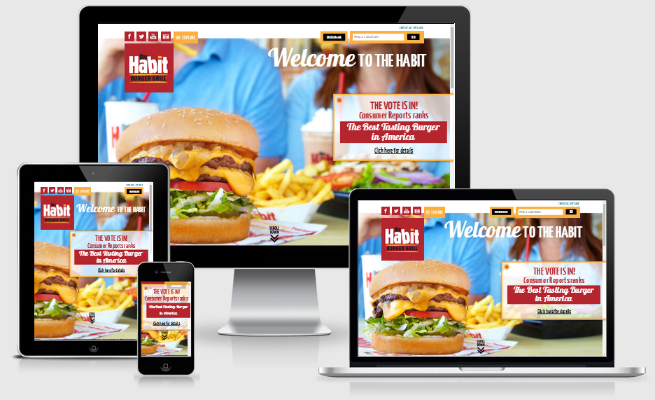 the habit responsive home page
