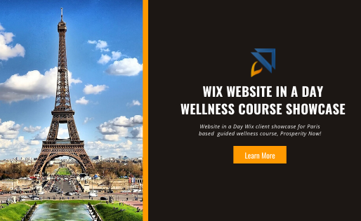 Wix Website in a Day Wellness Course Showcase