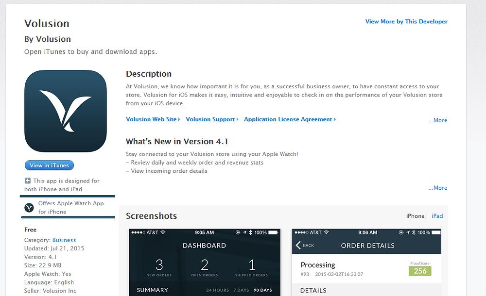 Apple's Website Screenshot