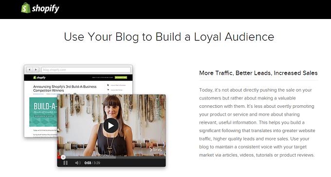 shopify built in blog