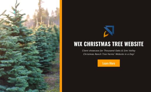 Wix Christmas Tree Website