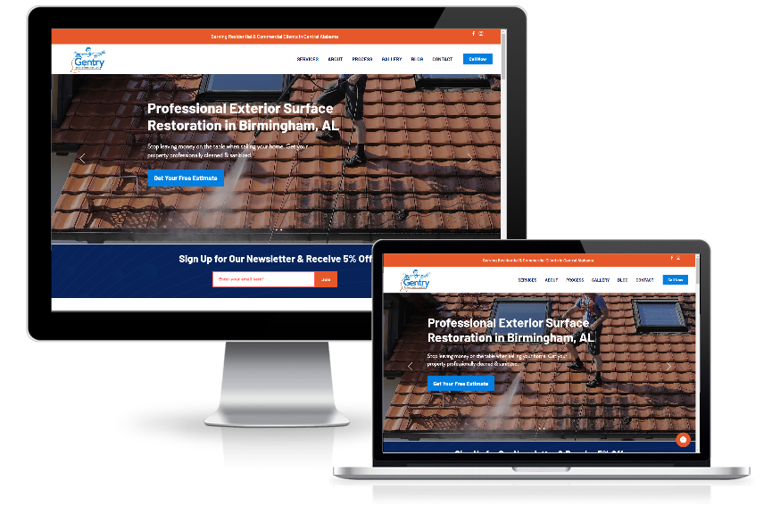 wix website for surface restoration business mobile friendly
