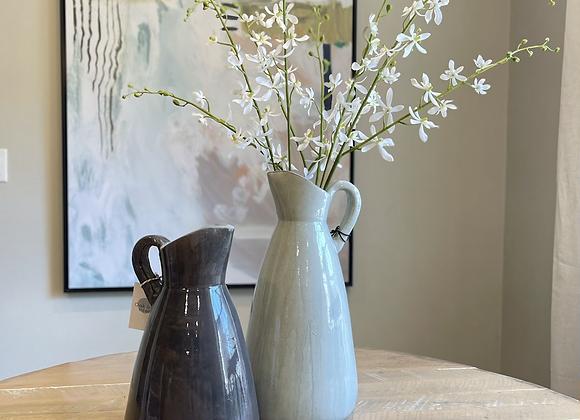 Dark gray pitcher