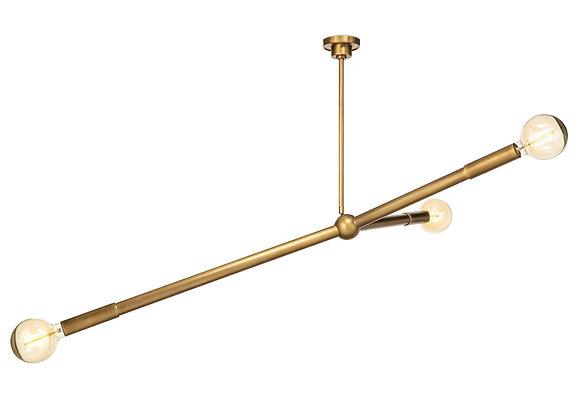 Linea Chandelier Brass