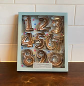 planet party kits - numbers shaped cooki