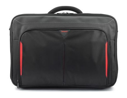 "Classic+ 17-18"" Clamshell Laptop Bag - Black/Red תיק לפטופ"