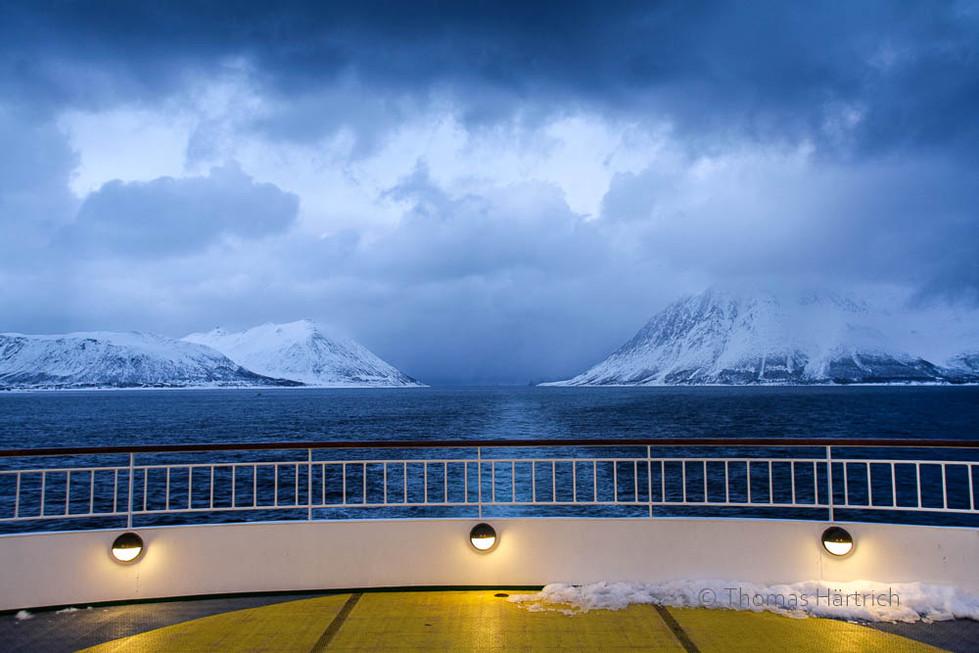 MS Finnmarken bei Skjervøy