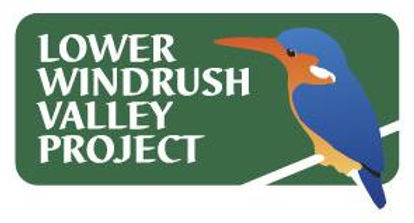Lower Windrush Valley Prioject logo. Picture of Kingfisher.