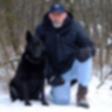 D.M. Greenwald with dog