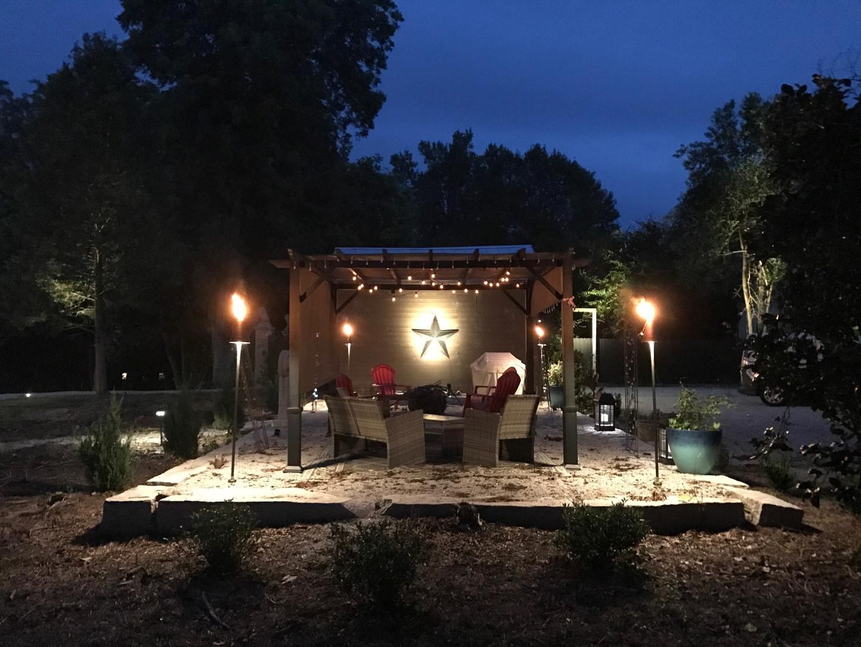 Tiki Torch Lighting Outdoor Living Space