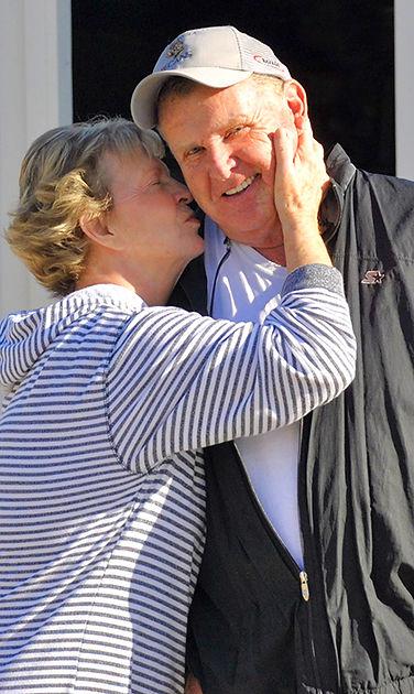 Carolyn and Jim Markley, proprietors of CJ Orchards in Rutledge, GA.