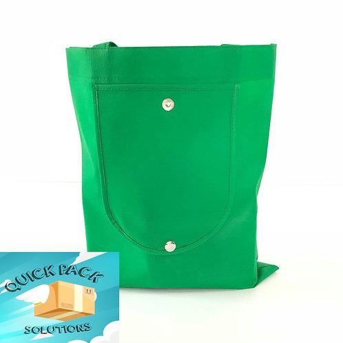 Bolsa De Pellón Con Compartimiento Verde