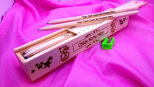 Fairy OR Funny Bugs Pencil Case+12 Colour Pencils