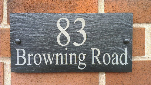 Natural Slate House Plaques Prices From £5.50