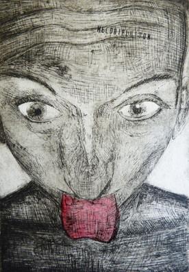Mum, gravure eau-forte, 2008