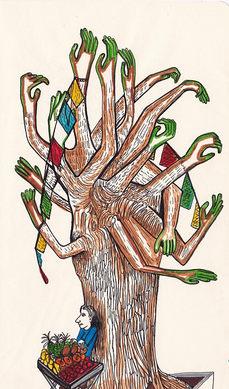 Arbre à mains - Mélodie Lutton
