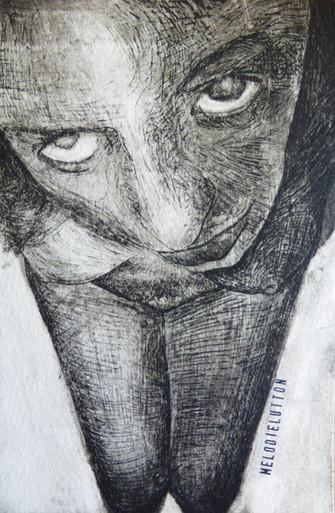 Me, gravure eau-forte, 2008